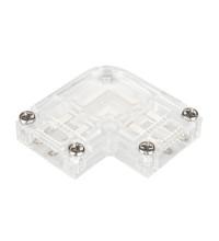 Коннектор угловой для ленты ARL-50000PV (15.5x6mm) прозрачный (ARL, Пластик)