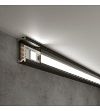 LL-2-ALP006 Накладной алюминиевый профиль черный/черный для LED ленты (под ленту до 11mm)