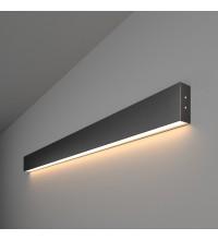 101-100-30-103 / Линейный светодиодный накладной односторонний светильник 103см 20W 3000K черная шагрень