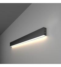 100-100-30-78 / Линейный светодиодный накладной односторонний светильник 78см 15W 4200К черная шагрень