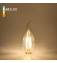 BL130/Светодиодная лампа Свеча на ветру BL130 7W 4200K E14 (CW35 прозрачный)