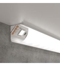 LL-2-ALP008 / Угловой алюминиевый профиль белый/белый для LED ленты (под ленту до 10mm)