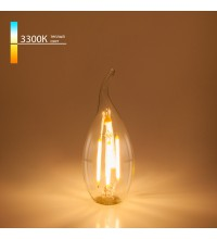 BL130/Светодиодная лампа Свеча на ветру BL130 7W 3300K E14 (CW35 прозрачный)