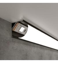 LL-2-ALP008 / Угловой алюминиевый профиль черный/белый для LED ленты (под ленту до 10mm)