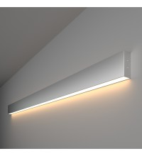 101-100-30-128 / Линейный светодиодный накладной односторонний светильник 128см 25W 3000K матовое серебро