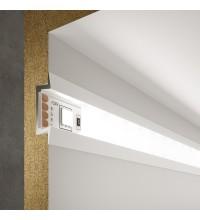 LL-2-ALP007 Встраиваемый алюминиевый профиль белый/белый для LED ленты (под ленту до 11mm)