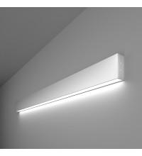 101-100-30-103 / Линейный светодиодный накладной односторонний светильник 103см 20W 6500K матовое серебро