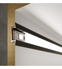 LL-2-ALP007 Встраиваемый алюминиевый профиль черный/белый для LED ленты (под ленту до 11mm)