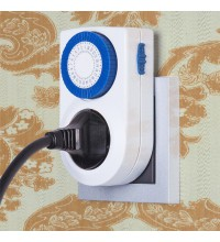 TMH-M-3 16A x1 IP20 / Розетка-таймер электронная Белый
