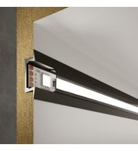 LL-2-ALP007 Встраиваемый алюминиевый профиль черный/черный для LED ленты (под ленту до 11mm)