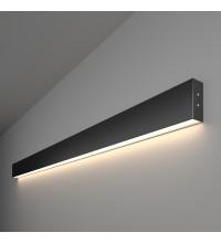 101-100-30-128 / Линейный светодиодный накладной односторонний светильник 128см 25W 4200K черная шагрень