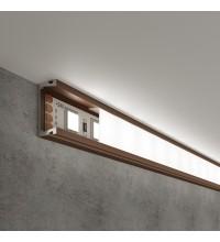 LL-2-ALP006 Накладной алюминиевый профиль латунь/белый для LED ленты (под ленту до 11mm)