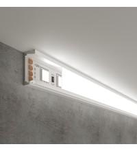 LL-2-ALP006 Накладной алюминиевый профиль белый/белый для LED ленты (под ленту до 11mm)