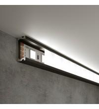 LL-2-ALP006 Накладной алюминиевый профиль черный/белый для LED ленты (под ленту до 11mm)