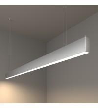 100-200-30-128 / Линейный светодиодный подвесной односторонний светильник 128см 25W 4200K матовое серебро