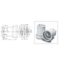 12800 VS Патрон E40 фарфор с резьбовым вкладышем газоразряд 210°