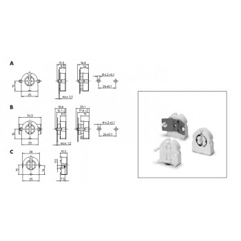 47106 VS Патрон G13 T8 T12 торцевой поворотный с пружиной защёлки 13мм