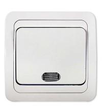 Выключатель 1-кл. CLASSICO с подсвет. 2121 бел. ASD / IN HOME 4680005959853