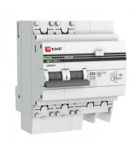 Выключатель авт. диф. тока 2п 4мод. C 50А 100мА тип AC S 4.5кА АД-2 PROxima EKF DA2-50-100S-pro