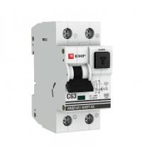 Выключатель автоматический дифференциального тока С 40А 30мА тип А 6кА АВДТ-63 (электрон.) PROxima EKF DA63-40-30e