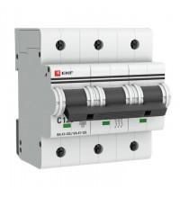Выключатель автоматический модульный 3п C 125А 15кА ВА 47-125 EKF mcb47125-3-125C
