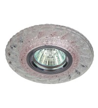 Светильник DK LD18 SL PK/WH декор cо светодиодной подсветкой MR16 прозр. роз. ЭРА Б0028068