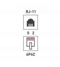Тройник тел. штек.-3 гнезд. 6P-4C бел. Rexant 03-0041