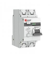 Выключатель авт. диф. тока 1п+N 2мод. C 25А 30мА тип AC 4.5кА АД-32 PROxima EKF DA32-25-30-pro