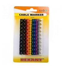 Маркер кабельный 0-9 комплект в блистере от 4 до 6мм (уп.100шт) Rexant 12-6062