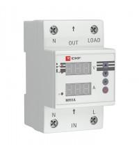 Реле напряжения и тока с дисплеем MRVA 50А PROxima EKF MRVA-50A