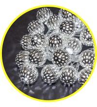 Гирлянда 14 042 NGF-D004-30CW-230-серебряные шарики (металл) Navigator 14042