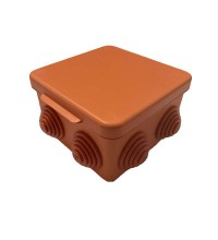 Коробка распр. ОП 80х80х55 IP54 негорюч. оранж. ГУСИ С3В87 Нг Евро