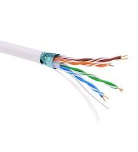 Кабель информационный экранированый F/UTP 4х2 кат.5е PVC бел. ДКС RN5EFUPV3WH