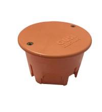 Коробка распр. СП круглая 68х45 IP30 для сплошных стен негорюч.оранж. ГУСИ С3В70К Нг Евро