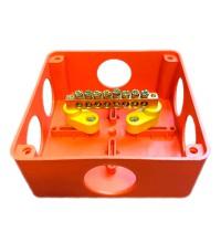 Коробка распр. ОП 150х100х50 IP55 для уравн. потенциалов крышка на винтах негорюч. оранж. ГУСИ С3В106 КУП Нг Евро