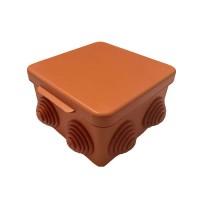 Коробка распр. ОП 100х100х55 IP54 без отверстий негорюч. оранж. ГУСИ С3В100 Нг Евро