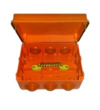 Коробка распр. ОП 150х110х70 IP55 для уравн. потенциалов крышка на винтах негорюч. оранж. ГУСИ С3В1510 КУП Нг Евро