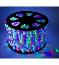 Шнур светодиодный Дюралайт свечение с динамикой 3W 220В 3.4Вт/м d13мм (уп.100м) IP44 мультиколор Космос KOC-DL-3W13-RGB