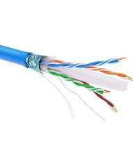 Кабель информационный экранированый F/UTP 4х2 кат.6 PVC син. ДКС RN6FUPV3BL