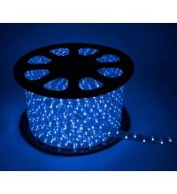 Шнур светодиодный Дюралайт постоянного свечения 2W 220В 1.8Вт/м d13мм (уп.100м) IP44 син. Космос KOC-DL-2W13-B