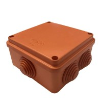 Коробка распр. ОП 100х100х50 IP55 крышка на винтах негорюч. оранж. ГУСИ С3В106 Нг Евро