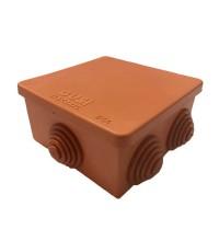 Коробка распр. ОП 80х80х55 IP54 негорюч. оранж. ГУСИ С3В80 Нг Евро