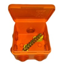 Коробка распр. ОП 80х80х55 IP54 для уравн. потенциалов негорюч. оранж. ГУСИ С3В87 КУП Нг Евро