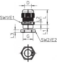 Ввод кабельный M32 V-TEC VM32+ OR OBO 7205666