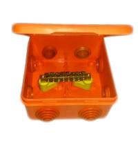 Коробка распр. ОП 100х100х55 IP54 для уравн. потенциалов негорюч. оранж. ГУСИ С3В108 КУП Нг Евро