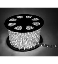 Шнур светодиодный Дюралайт постоянного свечения 2W 220В 1.8Вт/м d13мм (уп.100м) IP44 бел. Космос KOC-DL-2W13-W