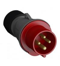 Вилка кабельная Easy&Safe 332EP6 32А 3P+E IP44 6ч ABB 2CMA101984R1000