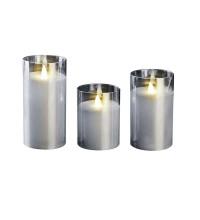 Свеча декоративная CL7-SET3-sr (компл. 3-х свечей серебр.) ФАZА 5018792