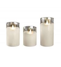 Свеча декоративная CL7-SET3-wh (компл. 3-х свечей бел.) ФАZА 5018853