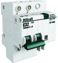 Выключатель авт. диф. тока со встроенной защитой от сверхтоков 1п+N 16А 30мА AC C ДИФ-101 DeKraft 15157DEK